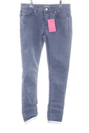 Topshop Skinny Jeans blau Punktemuster Casual-Look