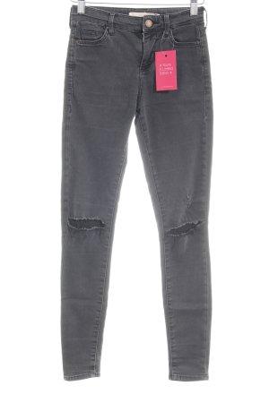 Topshop Skinny Jeans anthrazit klassischer Stil