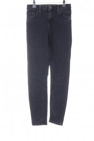 Topshop Skinny Jeans dunkelblau meliert schlichter Stil