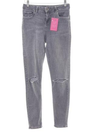 Topshop Skinny Jeans grau Jeans-Optik