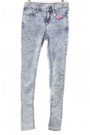 Topshop Skinny Jeans himmelblau-kornblumenblau Washed-Optik