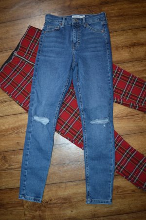 Topshop Skinny Jeans mit Cuts Gr. 36