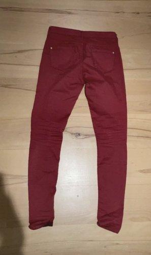 Topshop - Skinny Jeans rot mit Elastan