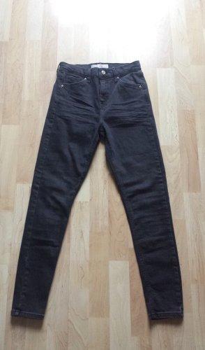 Topshop Skinny Jeans schwarz/dunkelgrau