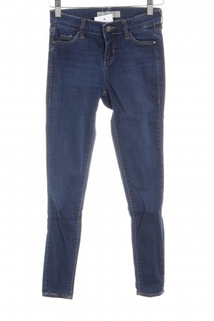 Topshop Slim Jeans dunkelblau Casual-Look