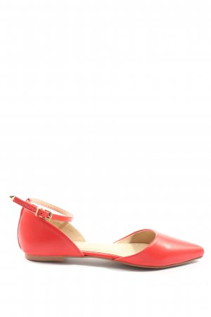 Topshop Slingback-Pumps rot Casual-Look