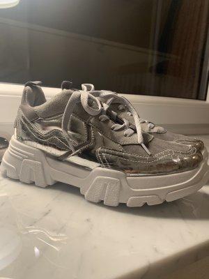 Topshop Sneakers met veters zilver