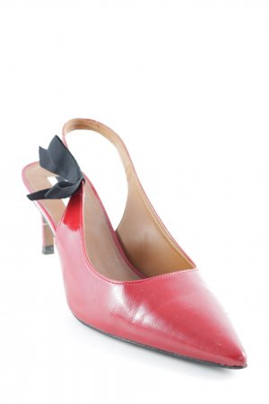 Topshop Spitz-Pumps rot-schwarz Elegant