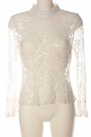 Topshop Blusa in merletto bianco elegante