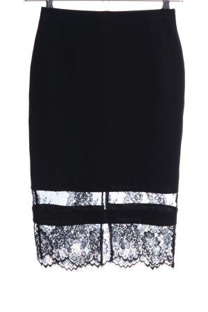 Topshop Falda de encaje negro elegante