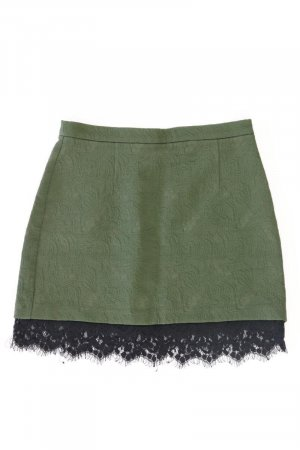 Topshop Lace Skirt olive green