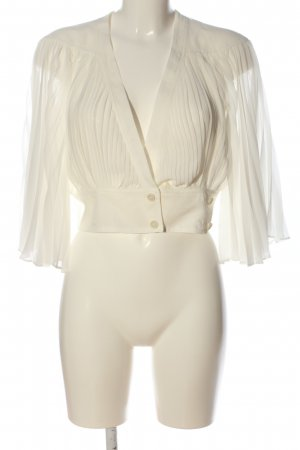 Topshop Stand-Up Collar Blouse white business style