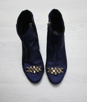Topshop Stiefeletten Samt Velvet Boots Heels Booties