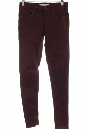 Topshop Stoffhose bordeauxrot Casual-Look