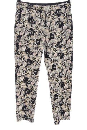 Topshop Jersey Pants black-light grey allover print elegant