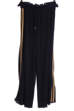 Topshop Stoffhose schwarz-gelb sportlicher Stil