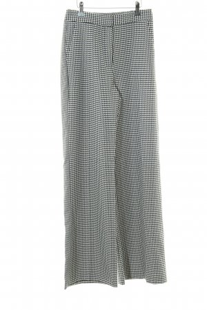 Topshop Pantalón tipo suéter negro-blanco estampado de pata de gallo