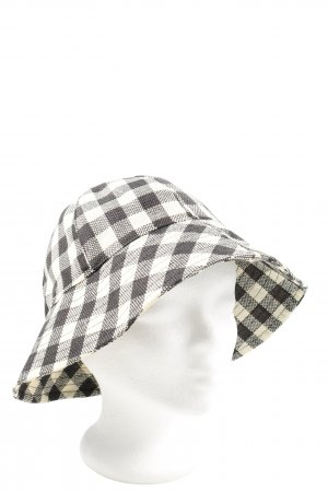 Topshop Bucket Hat white-black check pattern casual look