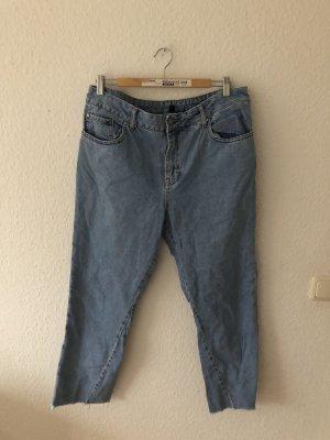 Topshop Jeans coupe-droite bleu clair