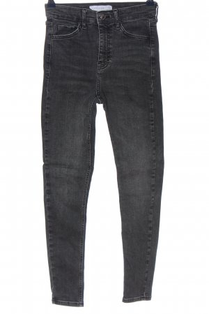 Topshop Straight-Leg Jeans hellgrau Casual-Look