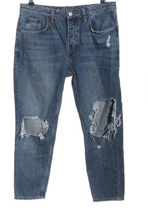 Topshop Straight-Leg Jeans blau Casual-Look