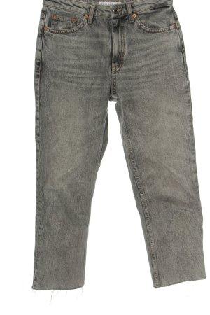 Topshop Jeans a gamba dritta grigio chiaro stile casual