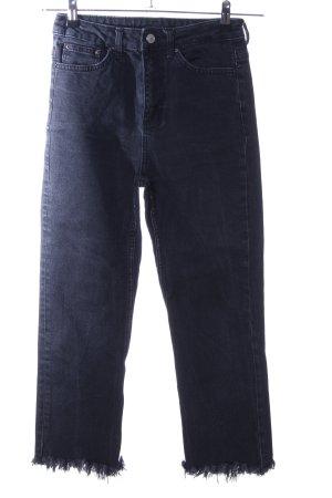 Topshop Jeans coupe-droite noir style décontracté