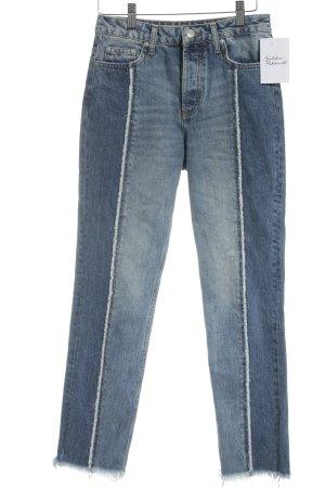 Topshop Straight-Leg Jeans blassblau Jeans-Optik