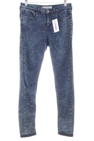 Topshop Stretch Jeans dunkelblau-hellgrau Casual-Look