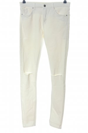 Topshop Stretchhose weiß Casual-Look