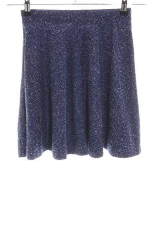 Topshop Stretchrock blau-weiß meliert Elegant
