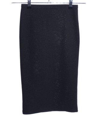 Topshop Stretchrock schwarz Streifenmuster Casual-Look