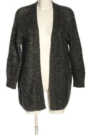 Topshop Cardigan in maglia nero puntinato stile casual