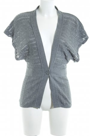 Topshop Strick Cardigan grau Casual-Look