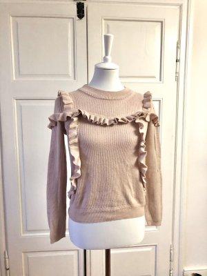 Topshop Strick-Pullover mit Rüschen
