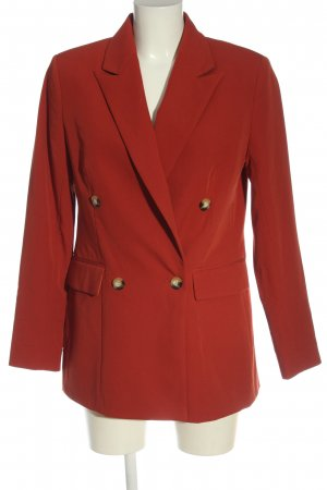 Topshop Strickblazer rot Casual-Look