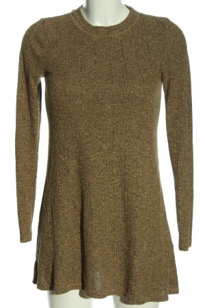 Topshop Strickkleid braun meliert Casual-Look