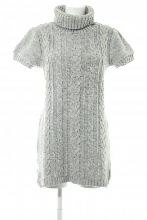 Topshop Strickkleid hellgrau-grau Casual-Look