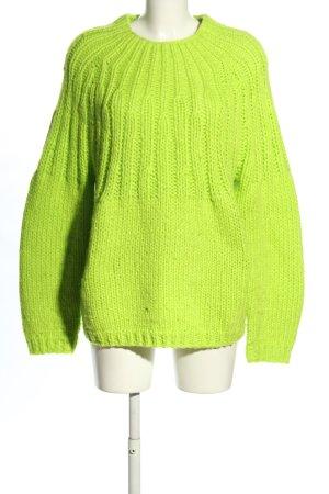 Topshop Strickpullover grün Casual-Look
