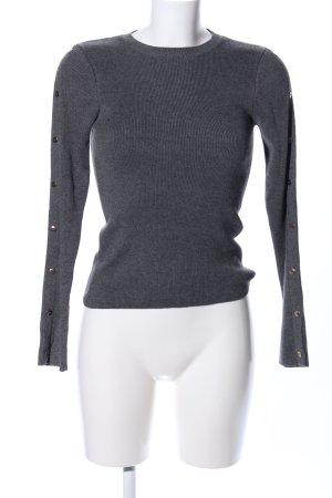 Topshop Pull tricoté gris clair moucheté style d'affaires
