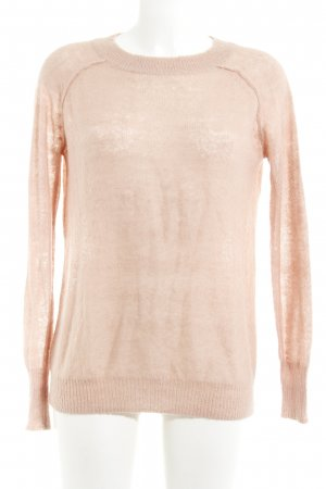 Topshop Strickpullover apricot Casual-Look