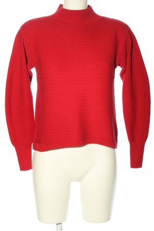 Topshop Strickpullover rot Casual-Look