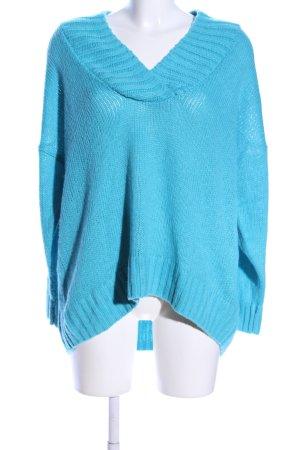 Topshop Strickpullover blau Casual-Look