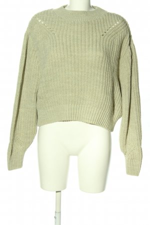 Topshop Strickpullover khaki Casual-Look