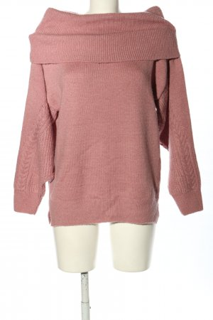 Topshop Pull tricoté rose style décontracté