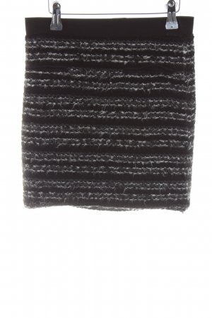 Topshop Knitted Skirt black striped pattern casual look