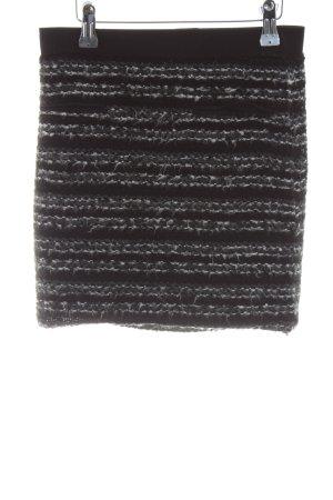 Topshop Strickrock schwarz Streifenmuster Casual-Look
