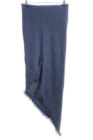 Topshop Gonna lavorata a maglia blu-lilla puntinato stile casual