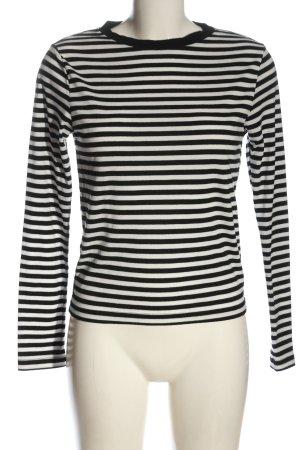 Topshop Strickshirt weiß-schwarz Allover-Druck Casual-Look