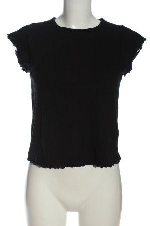 Topshop Gebreid shirt zwart casual uitstraling
